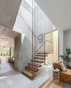 """226 Likes, 27 Comments - @stylesourcebook on Instagram: """"What a stunning staircase by @coaparchitects in their Balmain project. We love the contrasts of the…"""""""