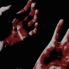 hands blood