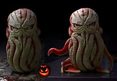 Cthulhu Watermelon Carving
