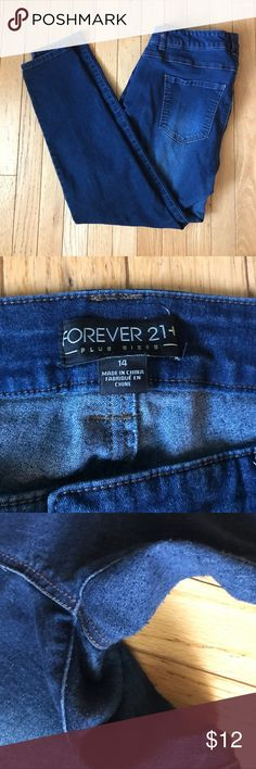 Forever 21 plus Skinny Jeans Excellent condition.  Some pilling in the crotch area. Forever 21 Jeans Skinny