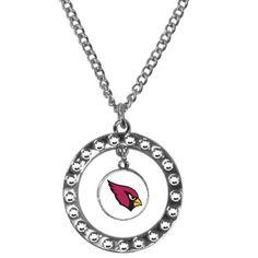 Arizona Cardinals Rhinestone Hoop Necklace