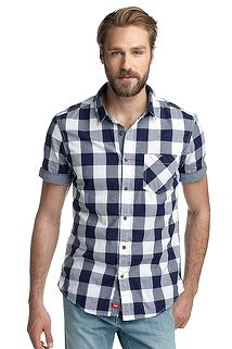 #blue white checked shirt ~s