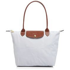 Longchamp Le Pliage Medium Shoulder Tote ($88) ❤ liked on Polyvore featuring bags, handbags, tote bags, pearl, tote purses, shoulder tote, longchamp, tote handbags and longchamp tote bag