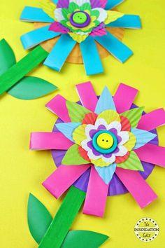 Paper Cup Flower Craft Kids Will Love · The Inspiration Edit Paper Cup flower craft for kids to make #spring #flowers #craft #kidscraft #preschool #craftsforkids #papercraft