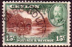 Ceylon 1935 King George V SG River Scene Fine Used SG 373 Scott 269  Other Ceylon Stamps HERE
