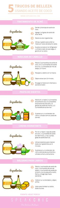Aceite de coco y sus beneficios. Beauty Routines, Coconut Oil, Skin Care, Health And Wellness, Natural Remedies