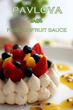 Bisous À Toi: Pavlova with Passionfruit Sauce