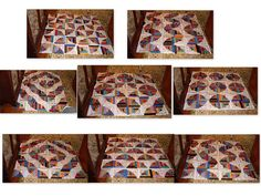 Curved Log Cabin Layouts by Linda Rotz Miller Quilts & Quilt Tops, via Flickr