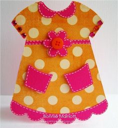 UItnodiging jurkje voor kinderfeestje.