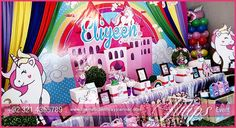Celebrate glorious Rainbow and Unicorn Birthday party decoration & planning ideas to make your little girls party absolutely magical in Pakistan. Perfect customised favor box, cupcake toppers & bottle lables. Themed Backdrop and more ...