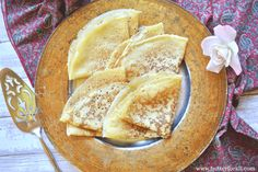 These traditionally fermented sourdough crepes make the perfect delicate base for sweet or savory toppings, fillings and sauces. Crepe Batter, Dutch Oven Recipes, Fermented Foods, Recipe Using, Crepes, Real Food Recipes, Snacks, Baking, Butter