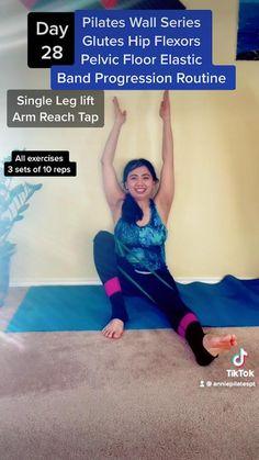 Postnatal Workout, Pilates Workout, Butt Workout, Strengthen Hip Flexors, Pilates For Beginners, 30 Day Workout Challenge, Floor Workouts, Pelvic Floor, Health Goals