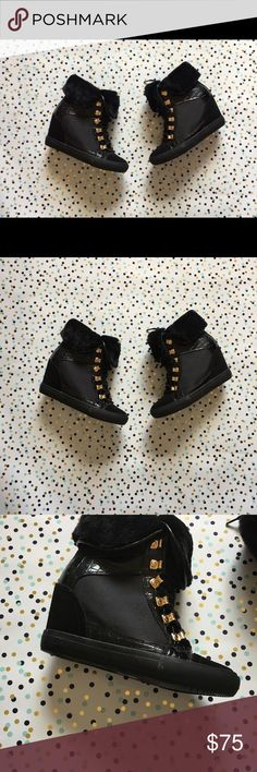 Aldo Black Booties Size 7.5 Size 7.5, only used once and super cute Aldo Shoes Winter & Rain Boots