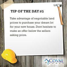 Tip #5  www.covalhomes.com
