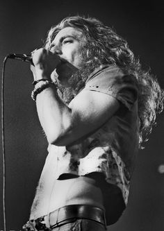Robert Plant photographed by Dina Regine, 1973.