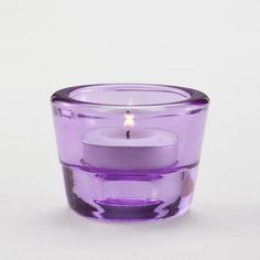 Lilac Dual Round Tealight Candle Holders, Set of 6 -1.98