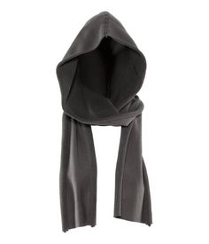 Scarf with sewn in hood