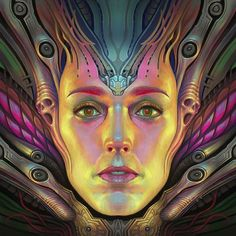 Marton de Diego Sabada Art State of mind.    #characterdesign #conceptart #face #head #female #creature #color #colors #colorful #fantasy #biomechanical #serenity #alien #drawing #painting #paintings #illustration #art #artoftheday #instaart #instacool #instagood #creative #inspiration #girl #woman #ornaments