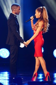 Ariana Grande and Big Sean, looking hot AF.