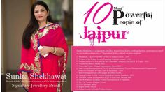Honored to be one of The 10 Most Powerful People of Jaipur!  #proudmoment #milestone #achievement #thanksjaipur #sunitashekhawat