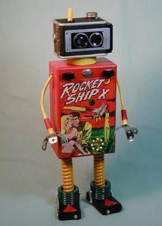 Sally Colby  Nutzen Bolts Works  Found Object Robot Sculpture
