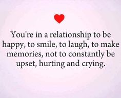 Your in a relationship to feel .....