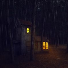 Angie Tanksley - Here in the forest dark and deep. Creepy Woods, Ethereal, October, Magic, Deep, Mood, Mirror, Halloween, House Styles