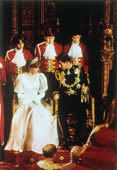 Prince and Princess of Wales at the Opening of Parliament, 1981