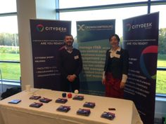 MD Michelle and Andy on the Team Citydesk stand at the SAPCA Sports Facility Show 2013.   Social media: How do you score?   #citydesksocial