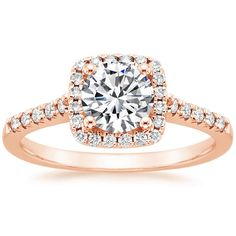 14K+Rose+Gold+Sonora+Halo+Diamond+Ring+(1/4+CT.+TW.)+from+Brilliant+Earth