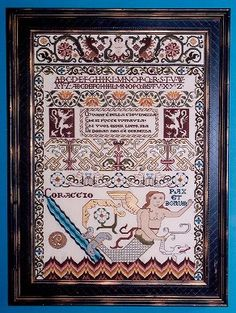 "Modern Sampler from 16th Century Italian Designs (""Corragio"")"