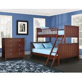 Found it at Wayfair - Michael Twin over Double Bunk Bed Bedroom Collection.  I like the color walls with the trim.