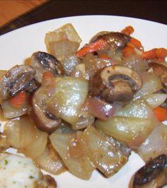 My Best Steak Side Dish With Vidalias, Shallots, Portabellas