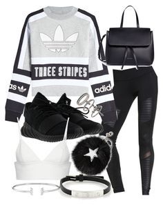 """""""Untitled #20839"""" by florencia95 ❤ liked on Polyvore featuring Alo, adidas Originals, Mansur Gavriel, adidas, Miss Selfridge, STELLA McCARTNEY, T By Alexander Wang and Cartier"""