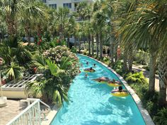 Lazy river at Destin West Beach and Bay Resort. We stayed here and it was wonderful!