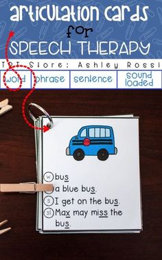 Articulation Cards for S, S blends & Z Word, Phrase, Sentence & Sound Loaded Sentences Great practice idea for my speech therapy students