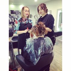 Tuesday morning training morning at aka hairdressing .Prices start from £15 for colour , £5 for cuts .