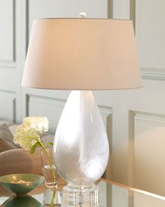 Arteriors Frosted Glass Table Lamp - traditional - table lamps - - by Horchow Luxury Lighting, Cool Lighting, Lighting Design, Lighting Ideas, Traditional Table Lamps, Frosted Glass, Light Decorations, Glass Table, Decorative Crafts