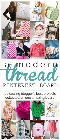 Need ideas of things to sew? This Pinterest board has fabulous ideas from 20 top sewing bloggers!