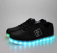 check out 2aa88 4f225 Light Up LED Shoes - Bolt - Black   Women s 8 Festival Gear, Festival  Fashion