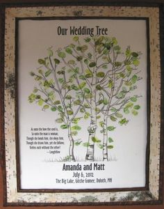 xSmall Aspen Wedding Thumbprint Tree  Watercolor  Giclee by fourch, $86.00  Our creation is an alternative to the traditional guest book. Guests actually become a work of art. We are professional artists and we can create something special just for you. This is a unique and splendid idea for a gift. Your personalized artwork will be something to treasure after the special occasion. It can be displayed on their/your wall to remember a memorable time with family and friends.