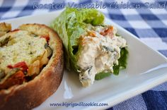 Big Rigs 'n Lil' Cookies: Roasted Vegetable Chicken Salad