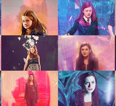 """Anything and everything about Harry James Potter and Ginevra (""""Ginny"""") Molly Weasley from JK Rowling's Harry Potter series. Harry Potter Characters, Harry Potter Fandom, Harry Potter Memes, Harry Potter World, Potter Facts, Harry James Potter, Harry And Ginny, Ginny Weasley, Hermione Granger"""
