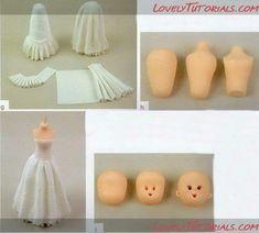 Creating  ruffled bridal dress in fondant