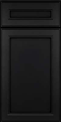 Door Detail - Square Recessed Panel - Veneer (PDM) Maple in Onyx - KraftMaid Cabinetry