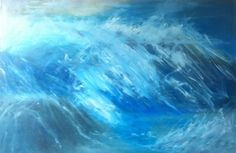 Rainbow Wave from Julie Dunster's Sense of Devon exhibition Devon, Landscape Paintings, Creatures, Waves, Artist, Rainbow, Life, Rainbows, Artists