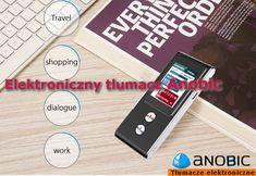 Tłumacz kieszonkowy - dwukierunkowe tłumaczenie głosowe na 35 języki Anobic VT, z pierwszym patentem na dwukierunkowe tłumaczenie z bezpośrednim tłumaczeniem głosowym na ŚWIECIE, dzięki któremu już nigdy nie będziesz miał problemu ze zrozumieniem ludzi napotykanych podczas podróży dookoła całego świata.