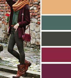 25 trendy ideas for clothes autumn colour palettes Source by mivelezalvarez ideas autumn Colour Combinations Fashion, Color Combinations For Clothes, Fashion Colours, Colorful Fashion, Color Combos, Deep Autumn Color Palette, Autumn Colours, Magazine Mode, Looks Plus Size