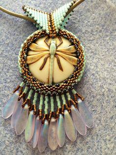 A new bezel porcelain pendant :)