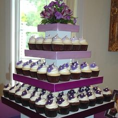 I like the idea of a square cake or cupcake stand like this